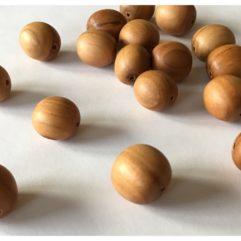 Träpärla äpple trä pärla smycke handjord miljövänlig tamme craft