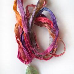 halsband siden agat smycken tamme craft
