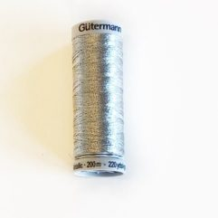 sulky, metallic, gütermann, tamme craft, broderitråd silver