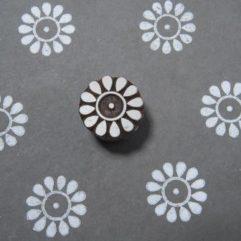 blockstämpel blomma tamme craft